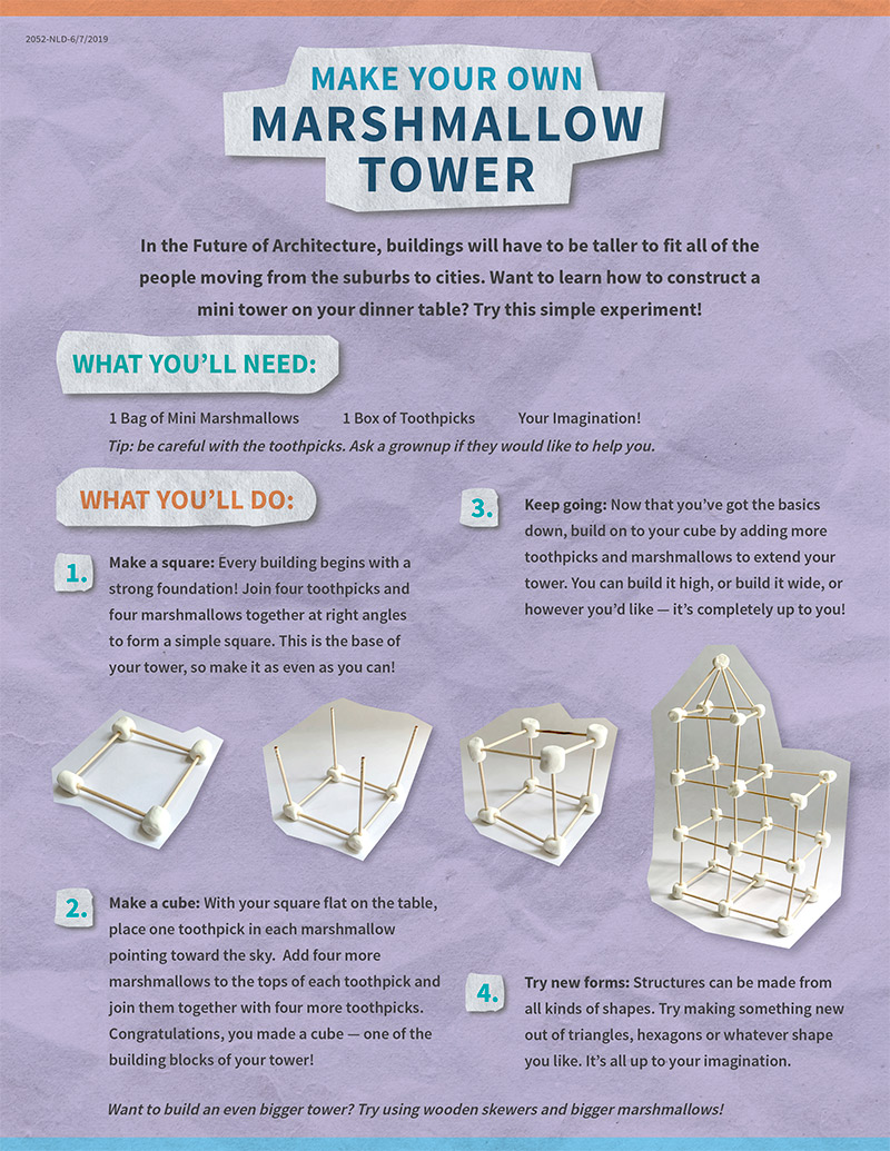 Download Instructions to build your own marshmallow tower