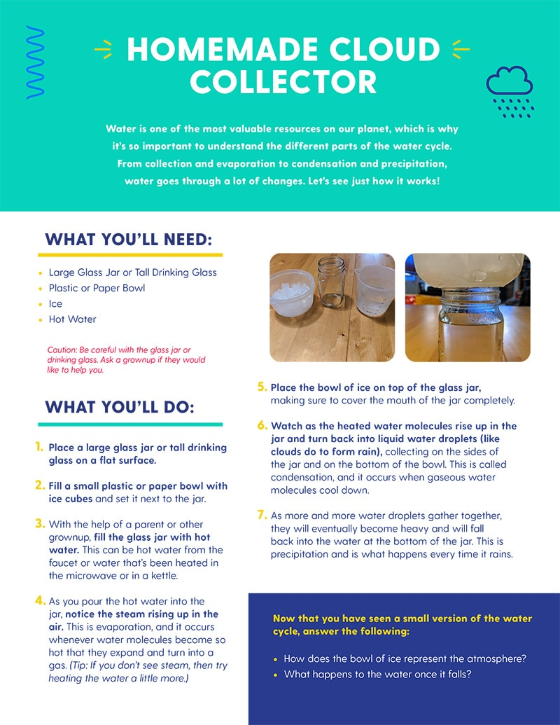 Download Instructions to make your own cloud collector